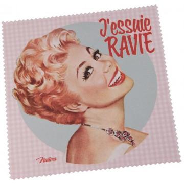 Chiffonnette J'ESSUIE RAVIE Natives déco rétro vintage humoristique