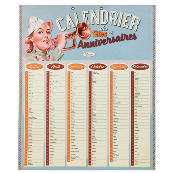 calendrier d 39 anniversaires g teau natives d co r tro