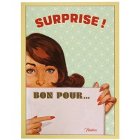 Carte postale BON POUR Natives déco rétro vintage humoristique
