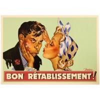 Carte postale BON RÉTABLISSEMENT Natives déco rétro vintage humoristique