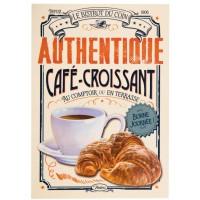 Carte postale CAFÉ-CROISSANT Natives déco rétro vintage