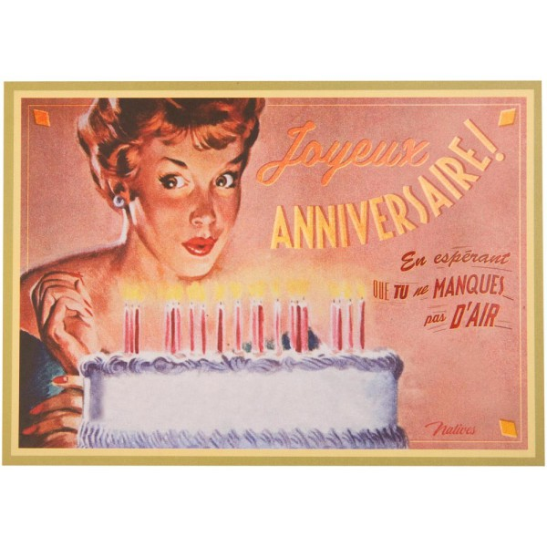 Carte Postale G Teau D 39 Anniversaire Natives D Co R Tro Vintage Humoristique Provence Ar Mes
