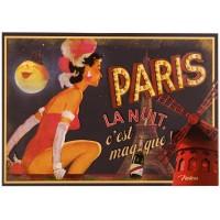 Carte postale PARIS LA NUIT Natives déco rétro vintage humoristique