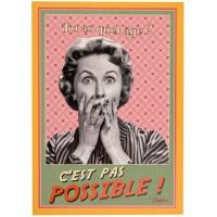 Carte postale anniversaire PAS POSSIBLE ! Natives déco rétro vintage humoristique