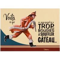 Carte postale anniversaire POMPIER Natives déco rétro vintage humoristique