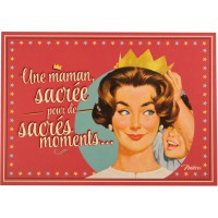 Carte postale SACRÉE MAMAN Natives déco rétro vintage humoristique