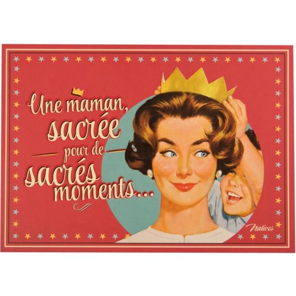 Carte Postale Sacr E Maman Natives D Co R Tro Vintage Humoristique Provence Ar Mes Tendance Sud