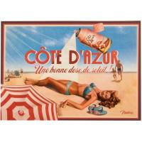Carte postale CÔTE D'AZUR Natives déco rétro vintage humoristique