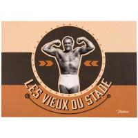 Carte postale VIEUX DU STADE Natives déco rétro vintage humoristique