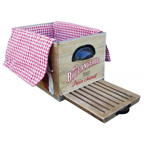 bo te pain en bois avec planche natives d co r tro. Black Bedroom Furniture Sets. Home Design Ideas
