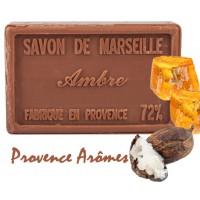 Savon AMBRE au beurre de karité 100 gr Savon de Marseille Pur végétal