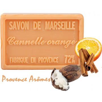 Savon CANNELLE ORANGE au beurre de karité 100 gr Savon de Marseille Pur végétal