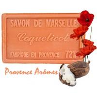 Savon COQUELICOT au beurre de karité 100 gr Savon de Marseille Pur végétal