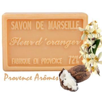 Savon FLEUR D'ORANGER au beurre de karité 100 gr Savon de Marseille Pur végétal