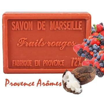 Savon FRUITS ROUGES au beurre de karité 100 gr Savon de Marseille Pur végétal