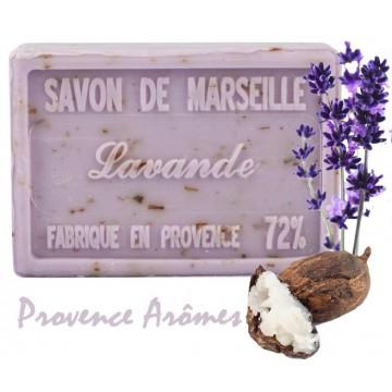 Savon LAVANDE FLEUR au beurre de karité 100 gr Savon de Marseille Pur végétal
