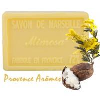Savon MIMOSA au beurre de karité 100 gr Savon de Marseille Pur végétal