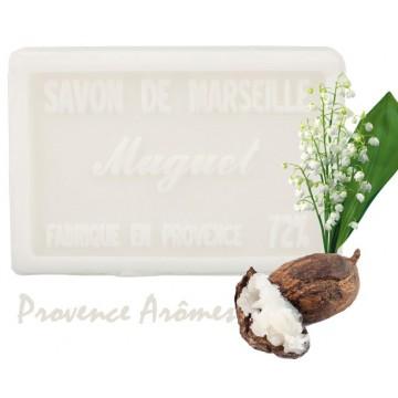 Savon MUGUET au beurre de karité 100 gr Savon de Marseille Pur végétal