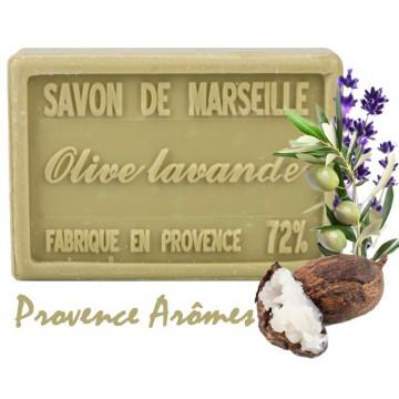 Savon OLIVE LAVANDE au beurre de karité 100 gr Savon de Marseille Pur végétal