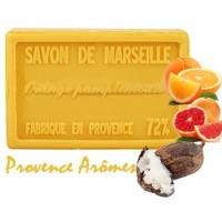 Savon ORANGE PAMPLEMOUSSE au beurre de karité 100 gr Savon de Marseille Pur végétal