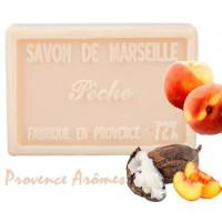 Savon PÊCHE au beurre de karité 100 gr Savon de Marseille Pur végétal