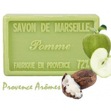 Savon POMME au beurre de karité 100 gr Savon de Marseille Pur végétal
