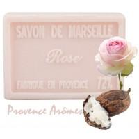 Savon ROSE au beurre de karité 100 gr Savon de Marseille Pur végétal