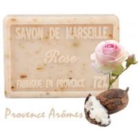 Savon ROSE PÉTALE au beurre de karité 100 gr Savon de Marseille Pur végétal