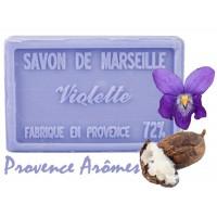 Savon VIOLETTE au beurre de karité 100 gr Savon de Marseille Pur végétal