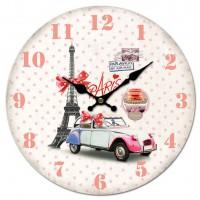 Horloge PARIS Tour Eiffel macarons et 2CV déco rétro vintage