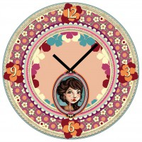 Horloge en verre ÉMILY Lili Pétrol déco rétro vintage design