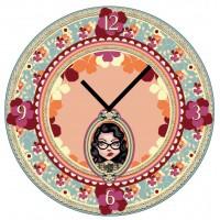Horloge en verre JUDE Lili Pétrol déco rétro vintage design