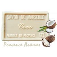 Savon NOIX DE COCO au beurre de karité 100 gr Savon de Marseille Pur végétal
