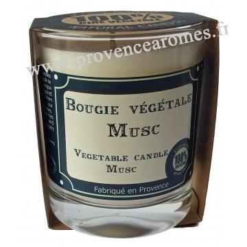 Bougie très parfumée MUSC à la cire végétale