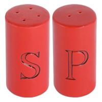 Salière Poivrière en céramique rouge