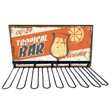 Rack support verres TROPICAL BAR déco rétro vintage