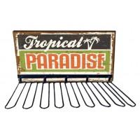 Rack support verres TROPICAL PARADISE déco rétro vintage