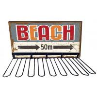 Rack support verres BEACH déco rétro vintage