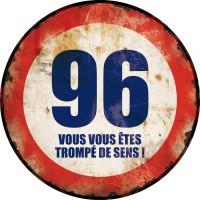 Plaque métal 96 TROMPÉ DE SENS déco rétro vintage