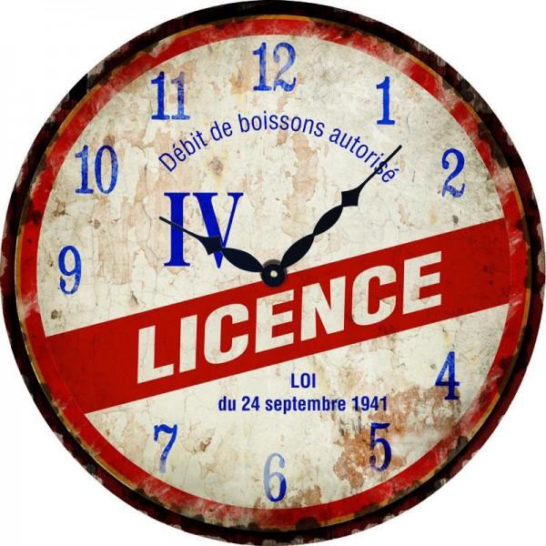 Horloge LICENCE IV déco rétro vintage   Provence Arômes Tendance sud
