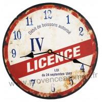 Horloge LICENCE IV déco rétro vintage