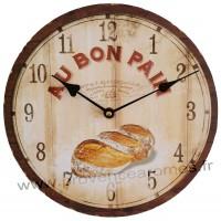 Horloge AU BON PAIN déco rétro