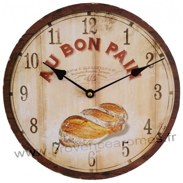 horloge au bon pain d co r tro provence ar mes tendance sud. Black Bedroom Furniture Sets. Home Design Ideas