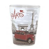 Verre à shot PARIS 2CV (deux chevaux) déco rétro