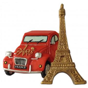Magnet 2CV (deux chevaux) PARIS TOUR EIFFEL