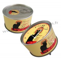 Horloge aimantée LA TOURNÉE DU CHAT NOIR collection MYCLOCK