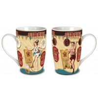 2 Mugs CIRCUS PARADE Natives déco rétro vintage