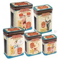 Set de 5 Boîtes alimentaires CIRCUS PARADE Natives déco rétro vintage