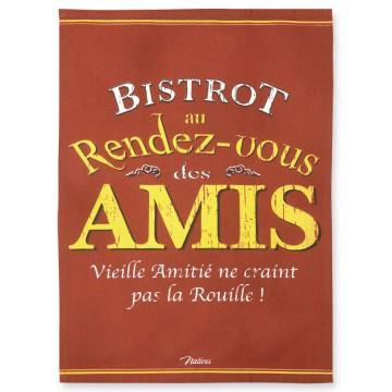 Torchon BISTROT DES AMIS Natives déco rétro vintage