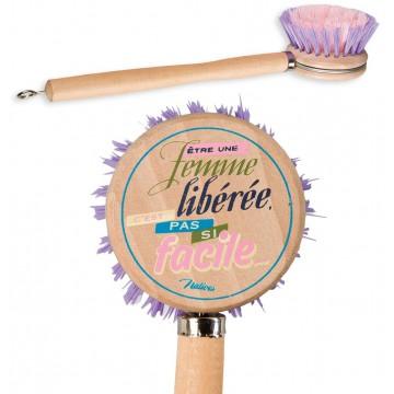 Brosse vaisselle FEMME LIBÉRÉE Natives déco rétro vintage